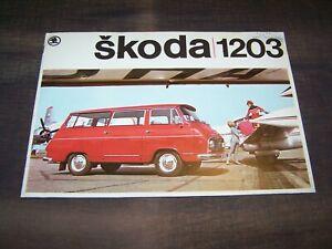 TOPRARITÄT Herrlicher Prestige Prospekt Skoda 1203 Kleinbus 70er Jahre !!!