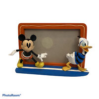 DISNEY PHOTO PICTURE FRAME Donald Duck & Mickey  Mouse Fits  4x6 photo
