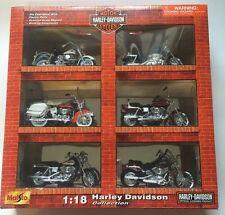 harley davidson 1:18 Maisto Die Cast 6 Piece Collection From 2002