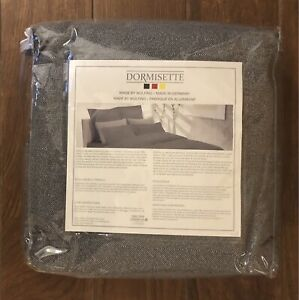 Dormisette NEW Chevron Grey Luxury Flannel QUEEN Duvet Cover Set w/ Two Shams