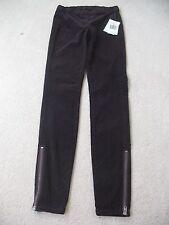 NWT Guess Women Corduroy Stretch Zipped Leggings, XS Aubergine/Dark Plum #2v