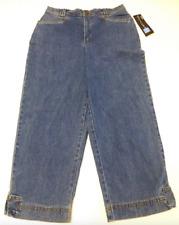 Relativity Womens Size 6P Blue Stretch Denim Capri Jeans New