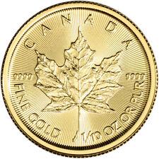 2020 Canada Gold Maple Leaf 1/10 oz $5 - BU