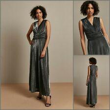 Wallis Maxi DressSize 16 | Silver Metallic Wrap Style | BNWT | £75 RRP | New!