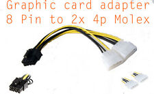 Cable alimentation carte graphique Molex 4 Pin to 8 pin PCI-E  power adapter