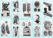 12 sheets lot black henna lace temporary tattoo Neck Arm  wholesale