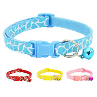 Adjustable Pet Collar Necklace with Bell for Small Pet Dog Puppy Kitten Cat Wit