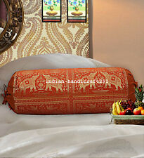 "Traditional Bolster Cover Mandala Pillow Cushion Cylindrical Masand Bolster 30"""