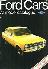 Ford Cars March 1975 UK Market Brochure Escort Cortina Capri Consul Granada