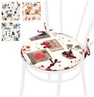 CUSCINO coprisedia TONDO cuori moderno cotone cuscini sedie cucina giardino