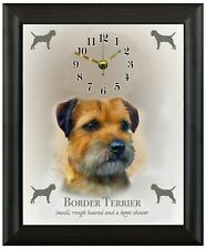 More details for border terrier clock wall or freestanding