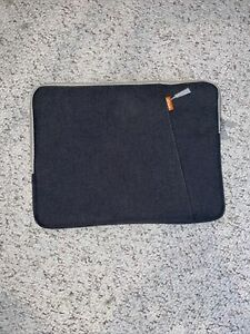 JETech Laptop Sleeve Grey With Side Pocket Comparable With 13 Inch MacBook