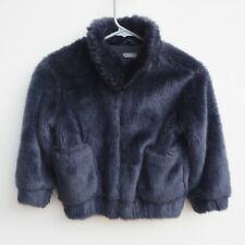 Gorgeous NEXT Girl's Navy Blue Faux Fur Bomber Style Jacket age 5 years STUNNING