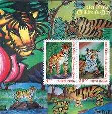 INDIA 2011 Children's Day Art Paintings Tiger Fauna flora  Miniature sheet