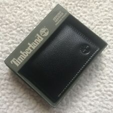 Timberland Men's Genuine Leather Slimfold Passcase Wallet - Black Sportz