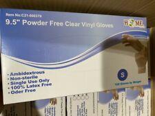 "9.5"" Single-Use Powder Free Clear Vinyl Gloves,Ambidextrous, Non-Sterile,100 Pcs"