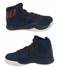 Adidas Men's NEW Crazy Bounce USA SM Mid Top Basketball Shoes Navy Red