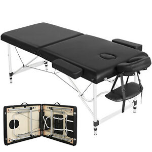 Massageliege Alu Massagetisch Massagebank klappbare Massagebett 2 Zonen 70cm
