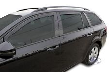 DSK28340 SKODA OCTAVIA mk3 ESTATE 2012 - up  wind deflectors 4pc set TINTED HEKO