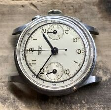1940s Chrome plated Hugex Baby Chronograph Early Valjoux 23