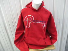 VINTAGE MAJESTIC PHILADELPHIA PHILLIES 2011 PLAYOFF LARGE HOODIE SWEATSHIRT