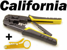 RJ45 RJ11 Crimping Network Tool Kit Cable Crimp Crimper LAN Wire Stripper Kits