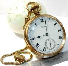 More details for antique waltham  marquis  gold plated  gold filled pocket watch 15 jewels watch,