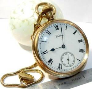 ANTIQUE WALTHAM  MARQUIS  GOLD PLATED  GOLD FILLED POCKET WATCH 15 JEWELS WATCH,