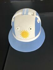 POLO HELMET WITH ARGENTINIAN FLAG / COLOURS / ARGENTINA