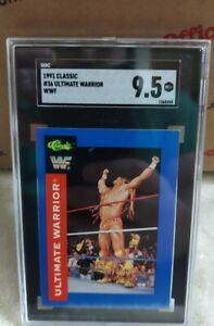 1991 CLASSIC WWF ULTIMATE WARRIOR SGC 9.5 MT+ MINT+ HOF ONLY ONE!!!