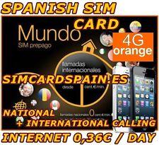 ORANGE MUNDO GO EUROPE SPANISH PAYG PREPAID 4G LTE SIM CARD INTERNET SPAIN