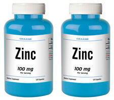 Zinc Citrate 100mg Serving HUGE Bottle 240 Capsules - USA SHIP IMMUNE HEALTH