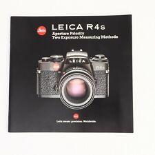 New listing * Leica R4s Original Camera Brochure