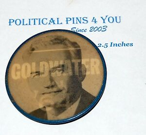 1964 BARRY GOLDWATER VARIVUE FLASHER campaign pin pinback button badge political
