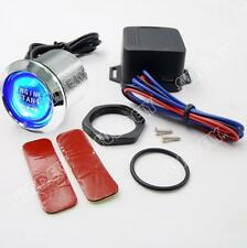 12V Car Engine Blue Universal Start Push Button Switch Ignition Kit 1-Pcs