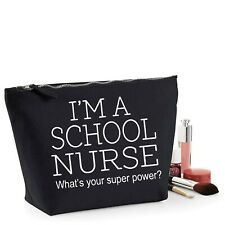 School Nurse Thank You Gift Women's Make Up Accessory Bag Mothers Day
