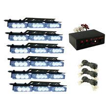 HQRP 54 LED 6 paneles Luz estroboscópica LED blanca de emergencia de coche