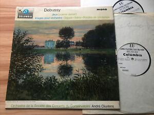 *2 X TESTS* COLUMBIA 33CX 1908DEBUSSY - JEUX / IMAGES *ANDRE CLUYTENS* EX