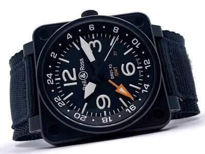 Bell & Ross BR01-93-GMT Automatic - very good condition (Full Set)