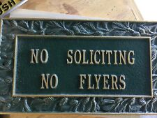 "Whitehall Pinecone ""No Soliciting No Flyers"" Metal Wall Plaque"