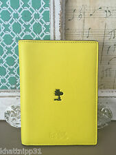COACH X PEANUTS WOODSTOCK YELLOW PASSPORT CARRY CASE LIMITED EDITION RARE NWT