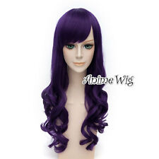 For League of Legends LOL Morgana Long Curly Hair 70CM Dark Purple Cosplay Wig