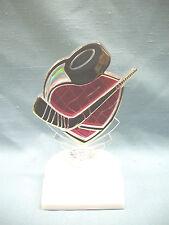 clear female Hockey skate trophy award pink backing white base
