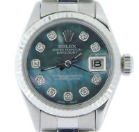 Rolex Datejust Lady Stainless Steel & 18k White Gold Watch Tahitian MOP Diamond