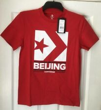 "CONVERSE Enamel Red Chevron Beijing Box Logo T Shirt XS Chest 34"" - 36"" BNWT"