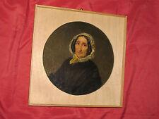 Superbe portrait de femme en médaillon du 19 è siècle