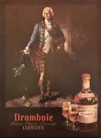 1955 Drambuie Liqueur PRINT AD Bonnie Prince Charlie in 1745 Portrait