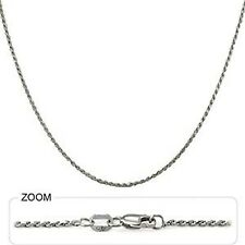 "5.70 gm 14k White Gold Diamond Cut Rope Women's Men's Chain Necklace 26"" 1.50 mm"