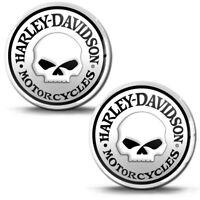 3D Silikon Aufkleber Schädel Harley Davidson Helm Motorrad Logo Emblem Abzeichen