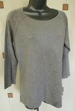 JUMPER KNIT TOP 18 46 LARGE GREY STRETCH SOFT M&CO